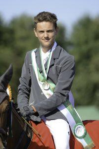 Gold im Nachwuchschampionat Springen ging an Fiete Constantin Krebs. Foto: Nilkens